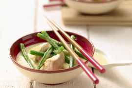 Foto van Curry van kip met koriander