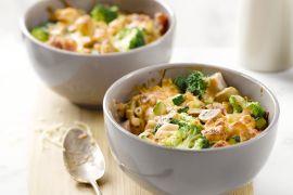 Foto van Macaroni met kaas en ham