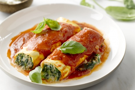 Cannelloni met ricotta & spinazie