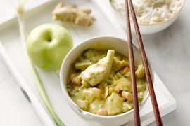Foto van Kip met rijst en curry