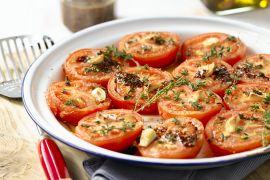 Foto van Geroosterde tomaten met honing en tijm