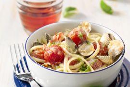 Foto van Pasta met schelpjes en kerstomaatjes