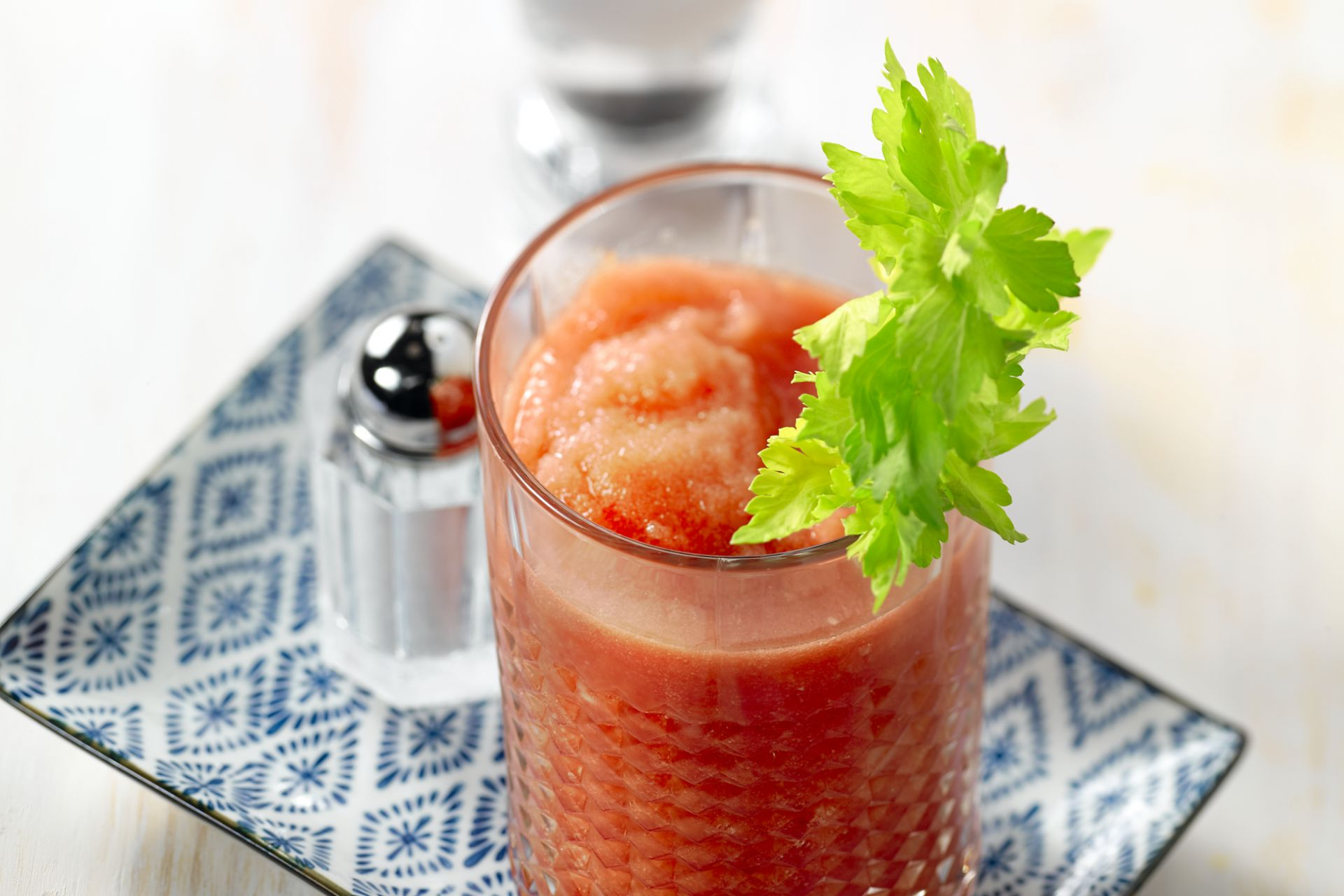 Pittige bloody mary granita
