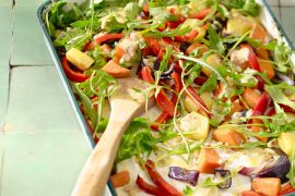 Foto van Salade van geroosterde groenten