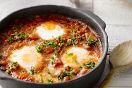 Foto van Tajine van tomaat en ei