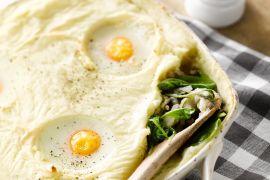 Foto van Spinazie ovenschotel met gehakt en eieren