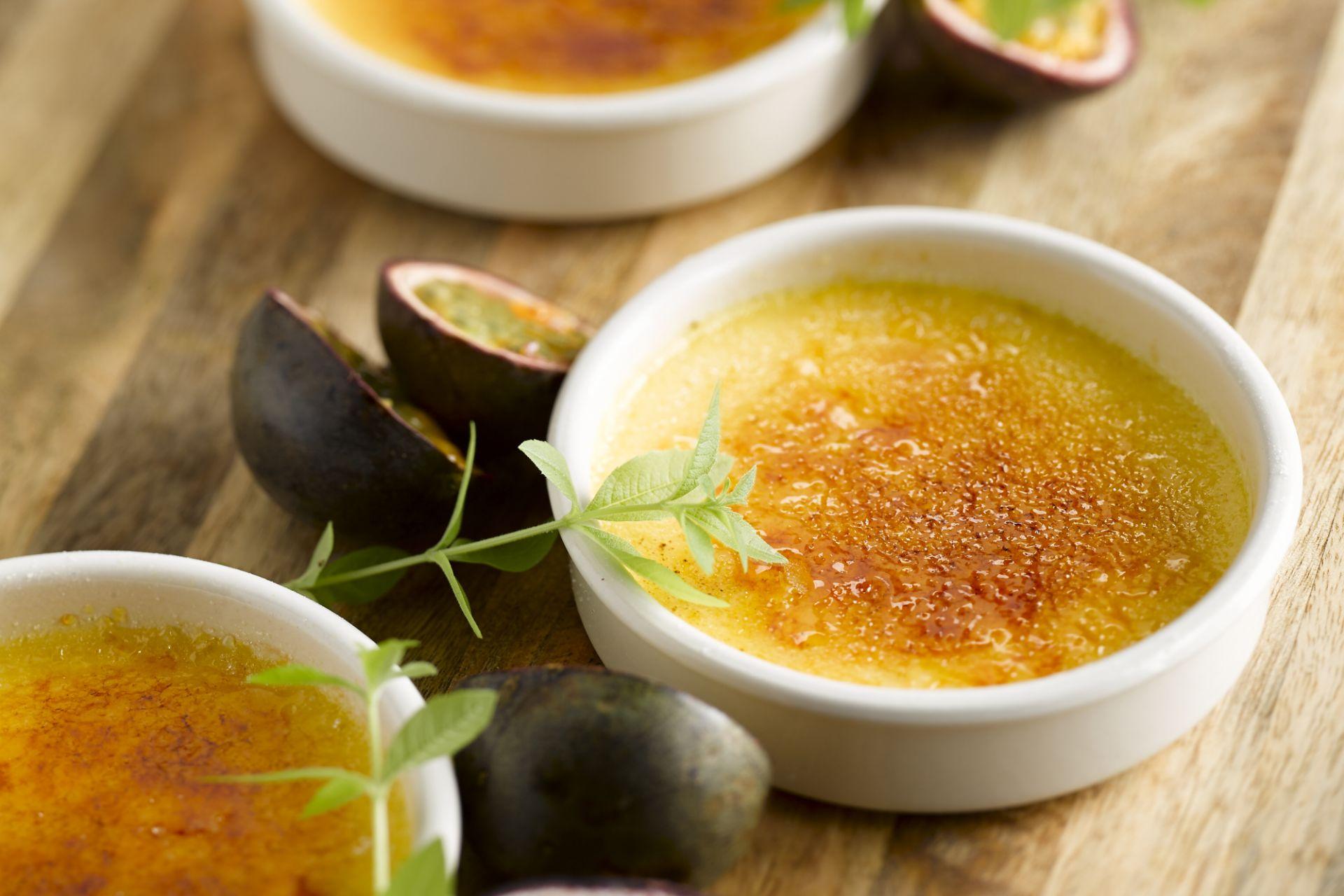 Crème Brûlée met passievruchten