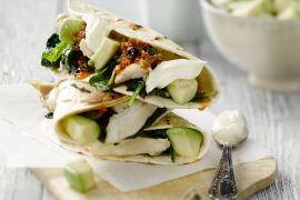 Foto van Quesadillas met kip en spinazie