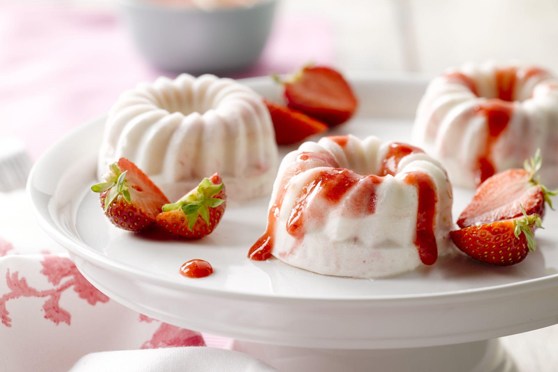 Aardbeien semifreddo