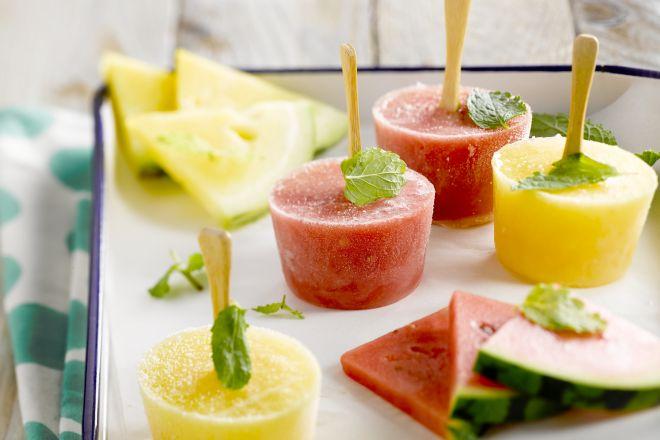 IJspops van watermeloen