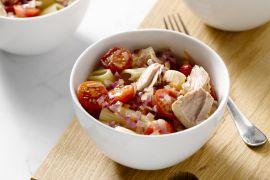 Foto van Spaghettini met tonijn en tomaat