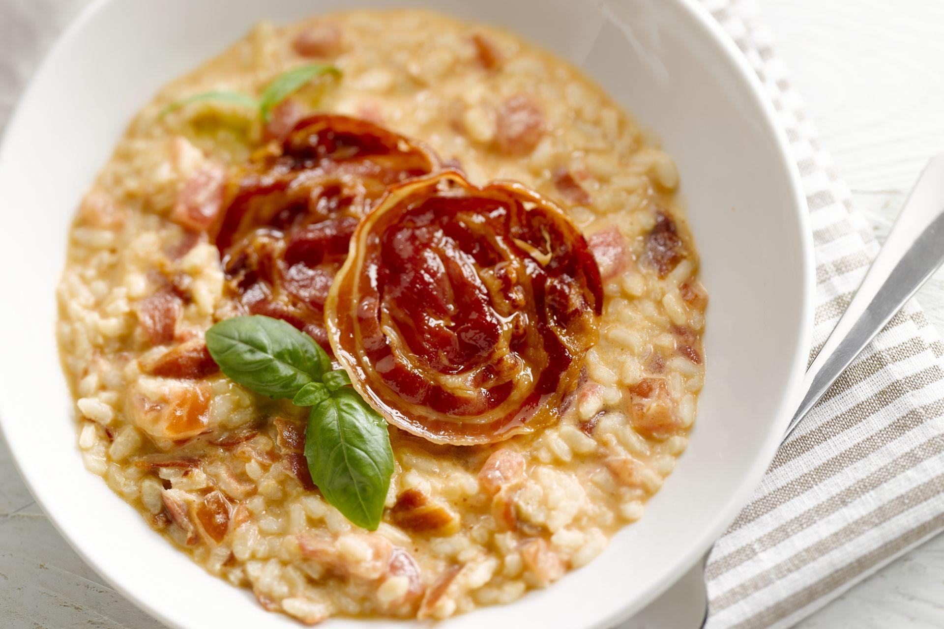 Tomatenrisotto met pancetta