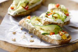 Foto van Bruschetta met gegrilde groenten