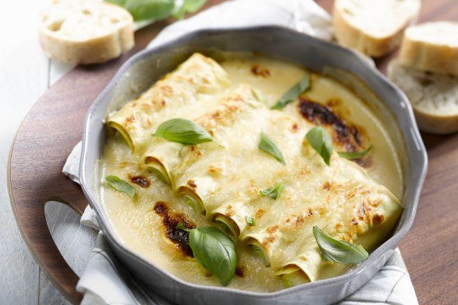Lekker lichte winterkost: cannelloni met ham en prei