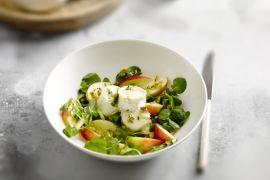Foto van Salade met geitenkaas en appel