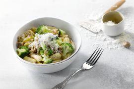 Foto van Cavatelli met gehakt en broccoli