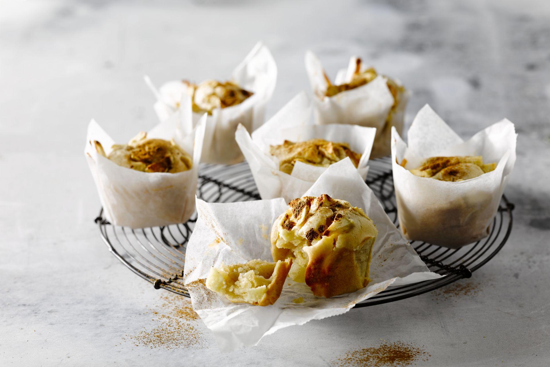 Muffin met appel en kaneel