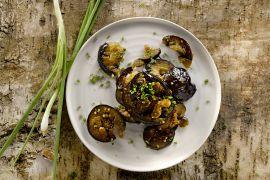 Foto van Gestoofde aubergines