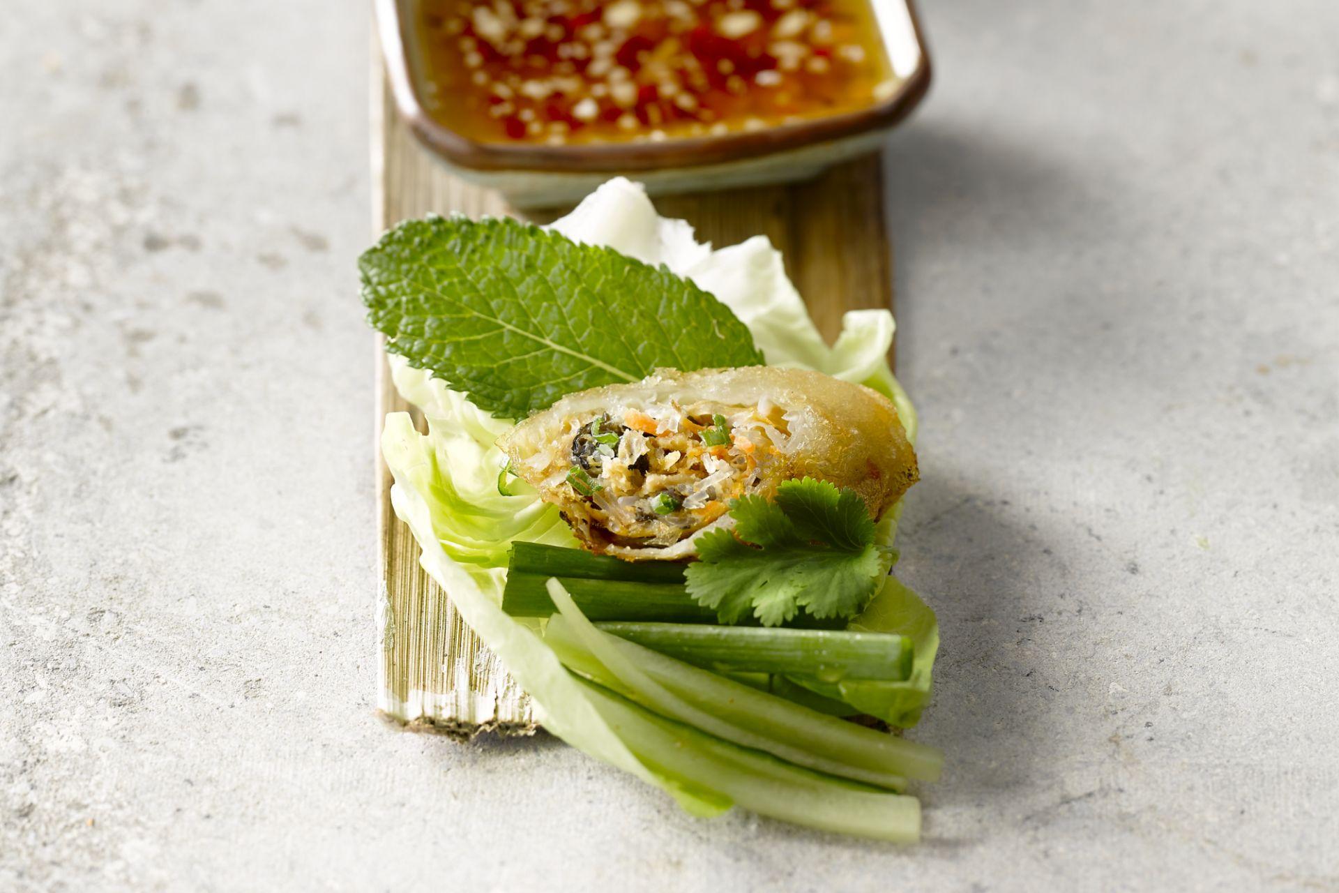 Vietnamese loempia met vlees en groenten