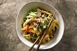 Foto van Gebakken rijstnoedels met groenten