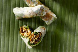 Foto van Lenterolletjes met tofu en groenten