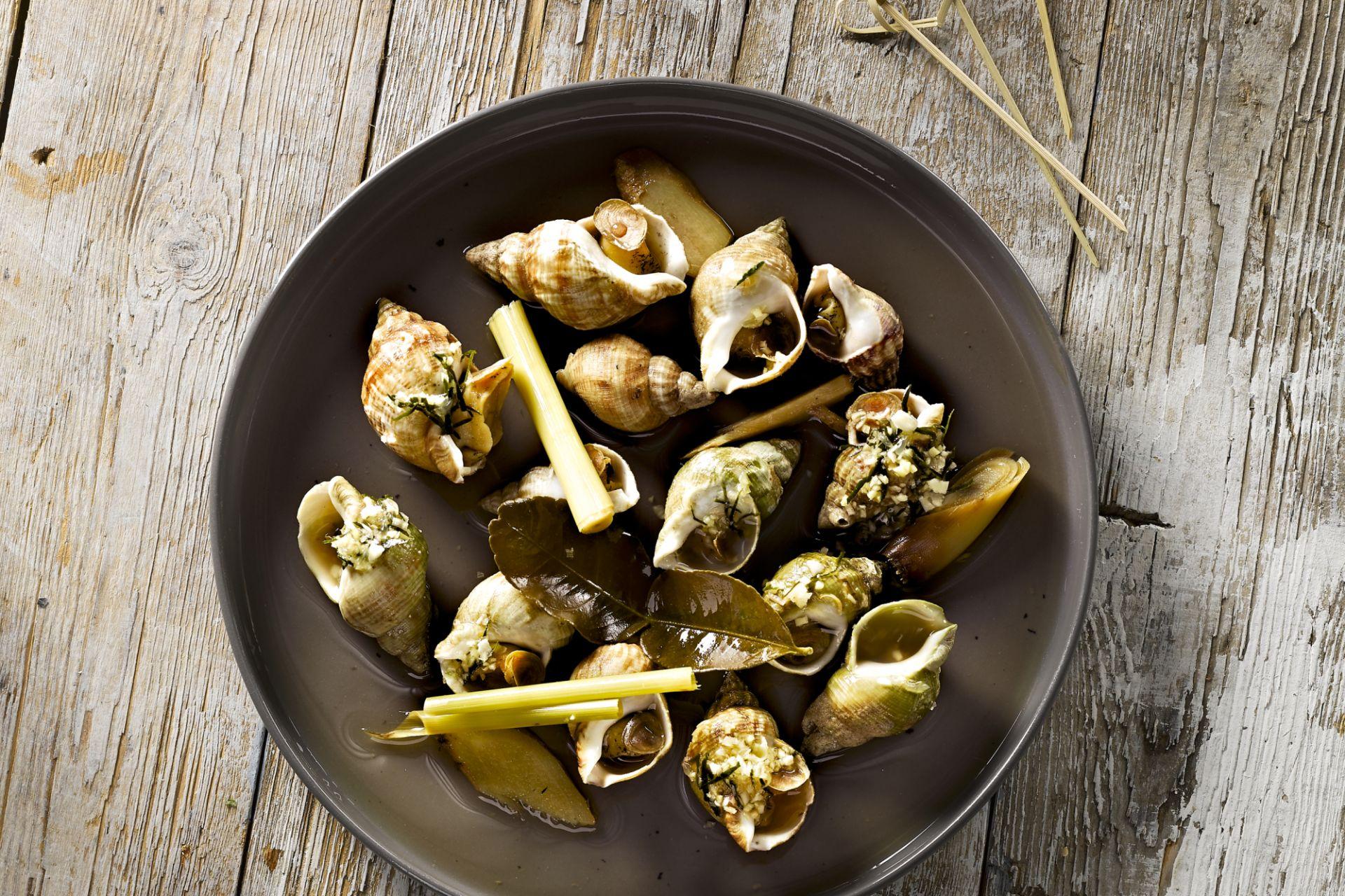 Gekookte escargots