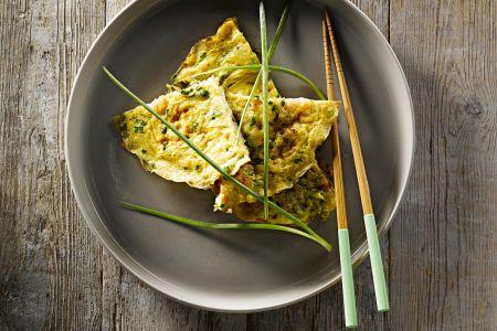 Omelet met scampi