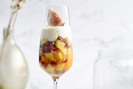 Foto van Fruitsalade met mascarponecrème