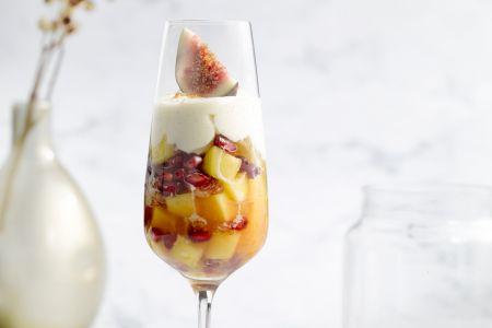 Fruitsalade met mascarponecrème