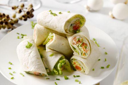 Zalmrolletjes met roomkaas en mierikswortel