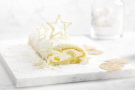 Foto van Sneeuwwitte kerststronk