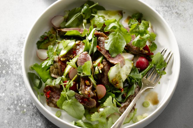 Chili-biefstuk salade