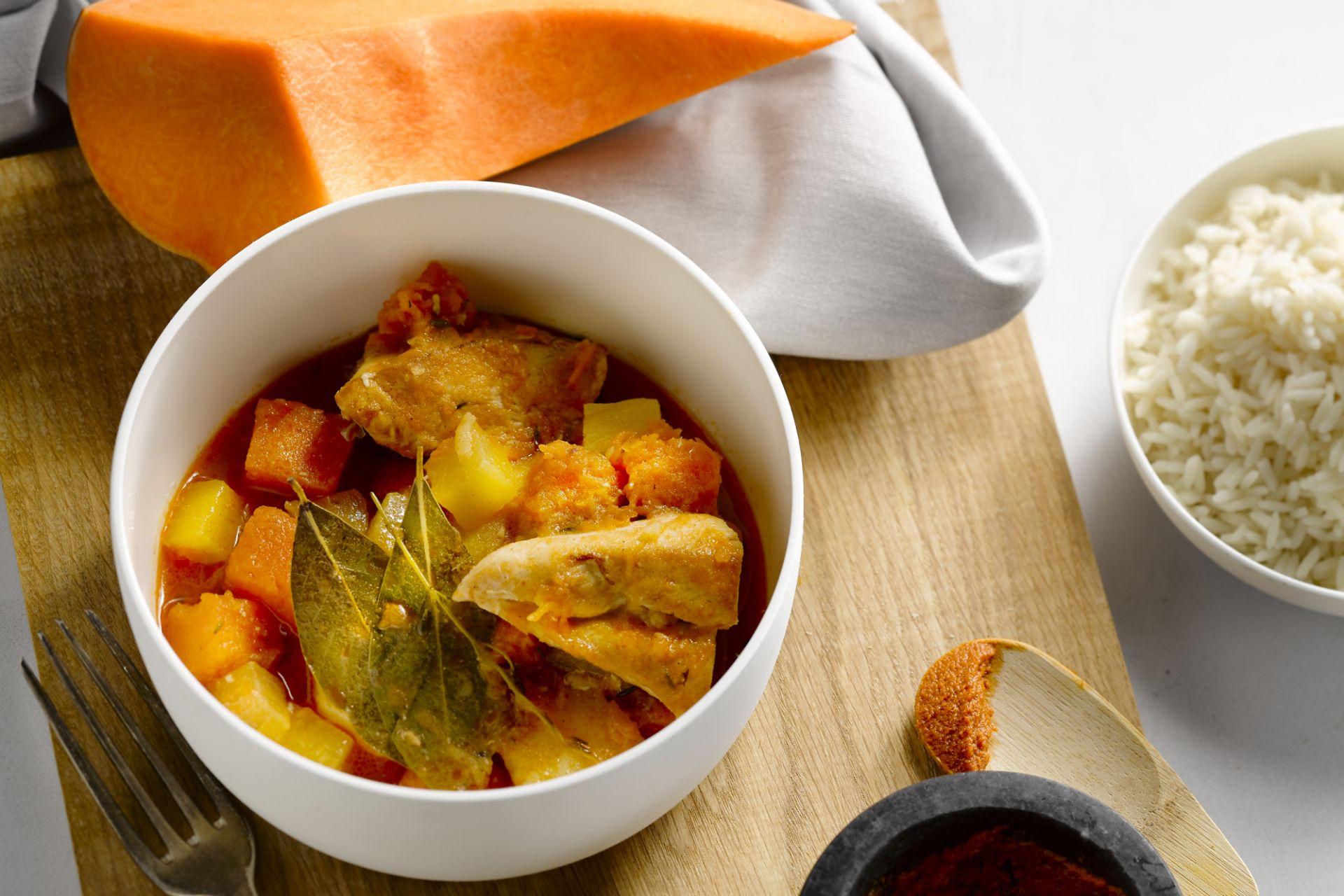 Caribbean kip curry