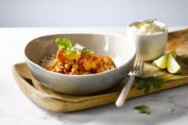 Foto van Indische curry met bloemkool