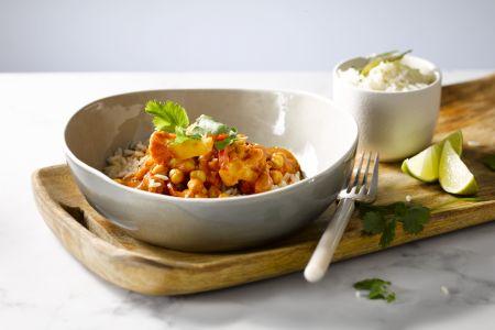 Indische curry met bloemkool