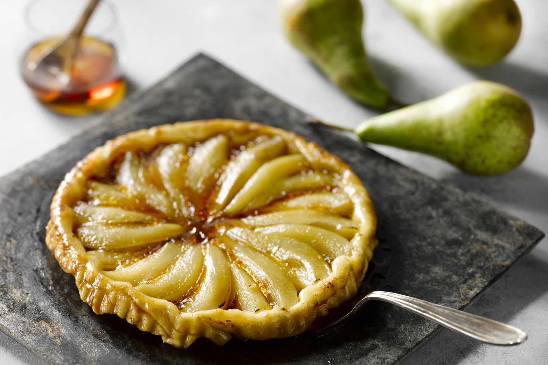 Tarte tatin met peer en maple syrup