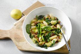 Foto van Cavatelli met spinazie en prosciutto