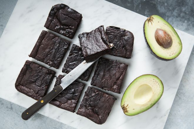 Brownies met avocado