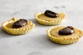 Foto van Zandtaartjes met chocolade en dulce de leche