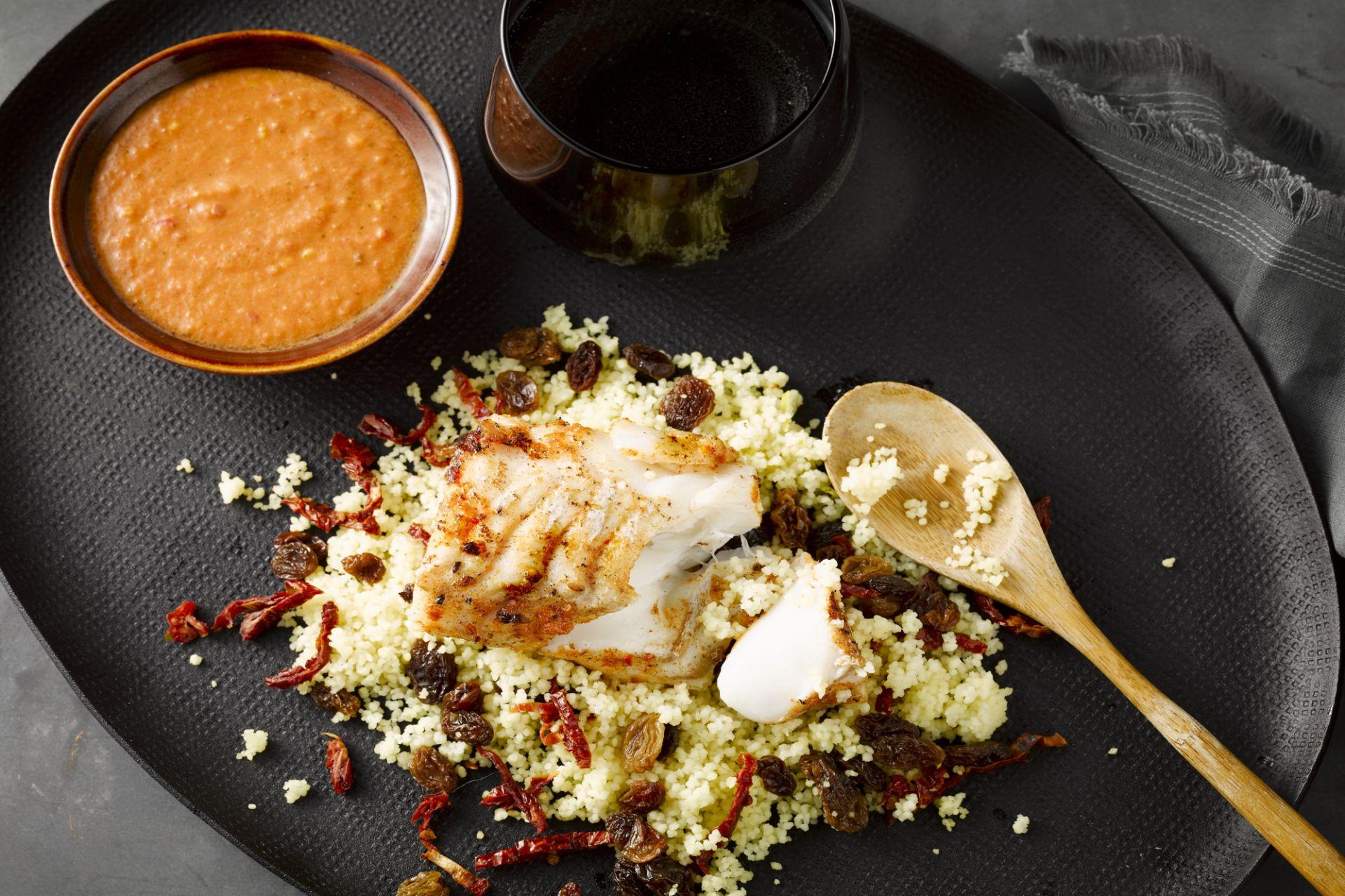 Harissavis met couscous