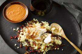 Foto van Harissavis met couscous