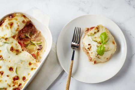 Lasagne van courgette met tonijn