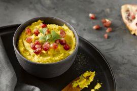 Foto van Curry hummus