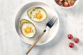 Foto van Avocado met ei