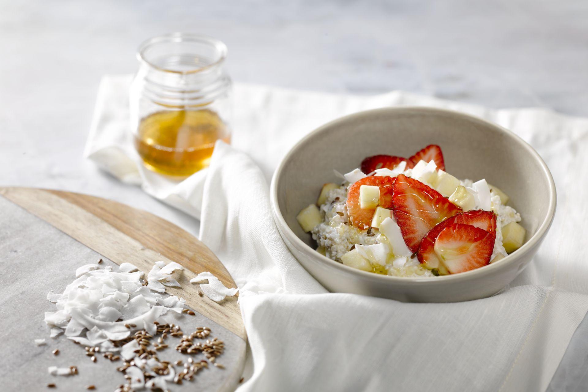 Quinoa-ontbijt met Griekse yoghurt