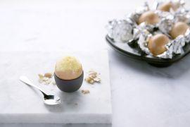 Foto van Gevulde eitjes met cake