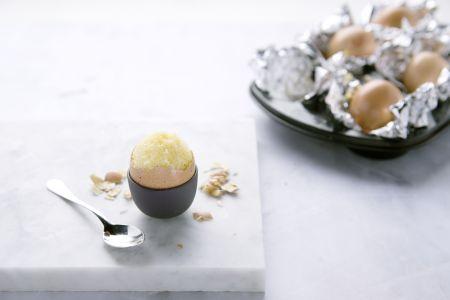 Gevulde eitjes met cake