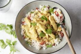 Foto van Snelle curry met kip en rijst