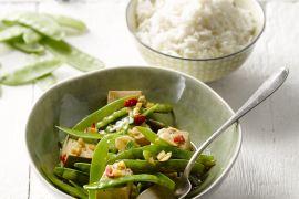 Foto van Tofu met chilipeper en jasmijnrijst