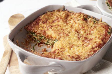 Lasagne met spinazie en ricotta